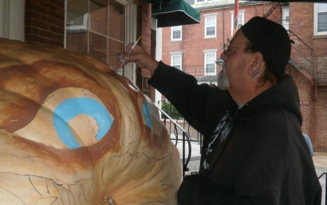 Glenn pumpkin painting - boothbayregister.com